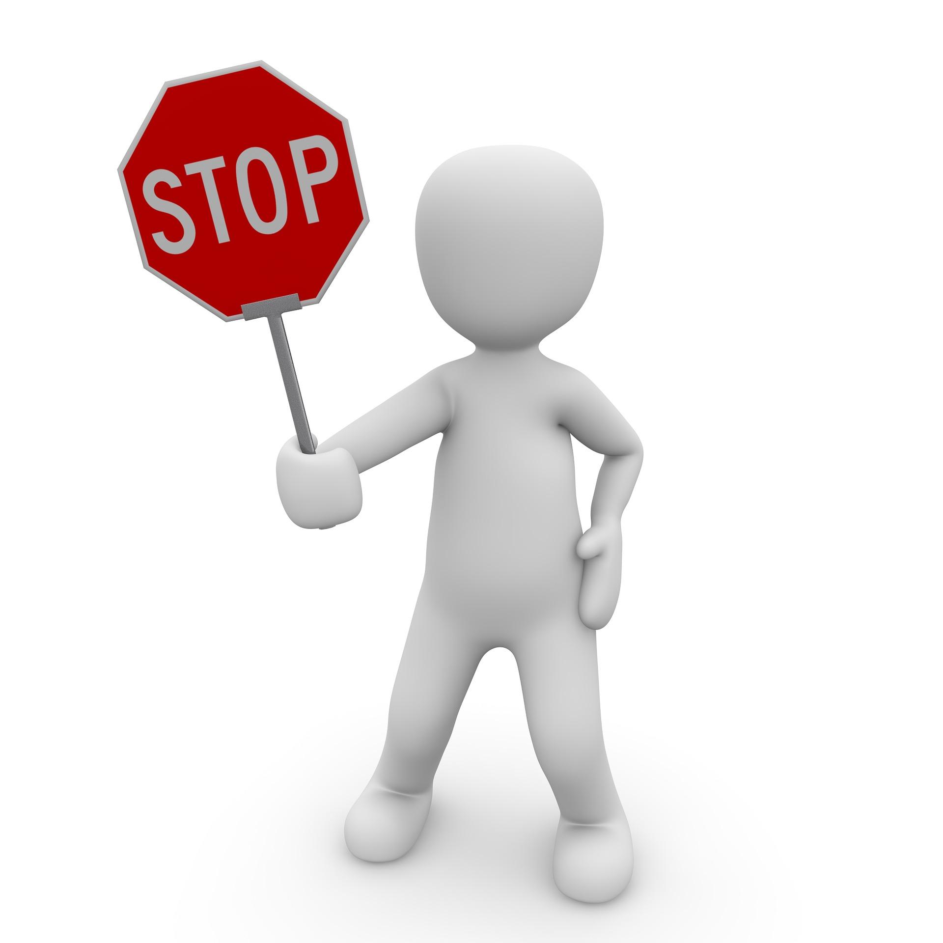 Placa Stop - para o artigo: O Contrato de Execução de Serviço de Natureza Contínua e sua Renovação